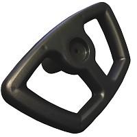 EKO - replacement steering wheel for Snow Comet black