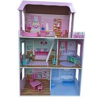 XXL großes Puppenhaus 116 cm  Puppenstube Barbiehaus mit Möbeln