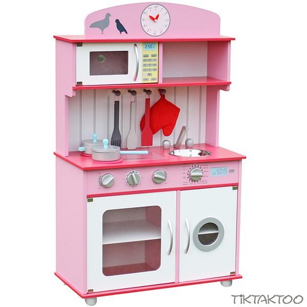 Perfekt PRINCESS Spielküche Kinderküche Aus Holz ~pink ~ Grau ~ Weiss ~ Mit Zubehör  ~ Für