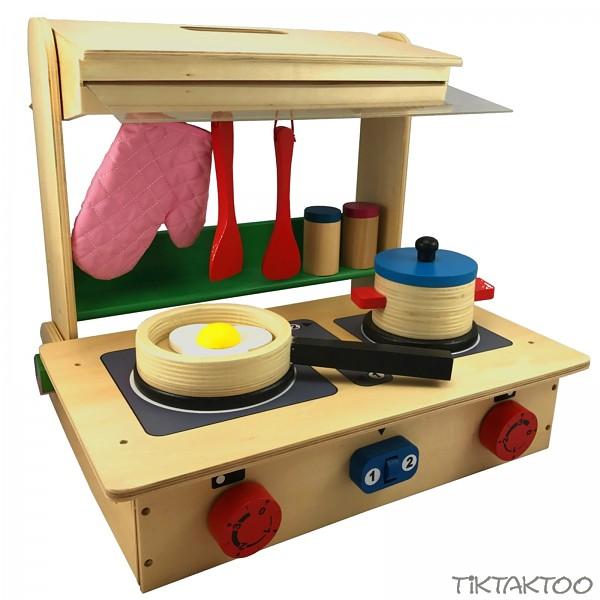 Spielkuche zum mitnehmen kinderkuche aus holz samt for Spielküche holz