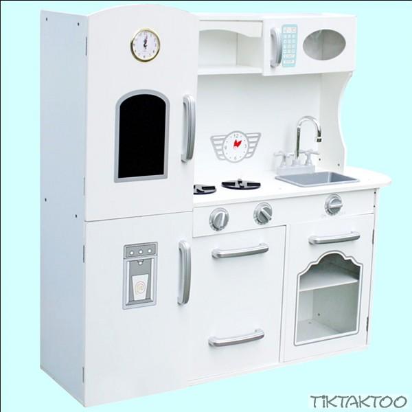 Kinderküche Weiß Spielküche Küche Retro Spielküche Küche Kinder Spielzeug  Holz