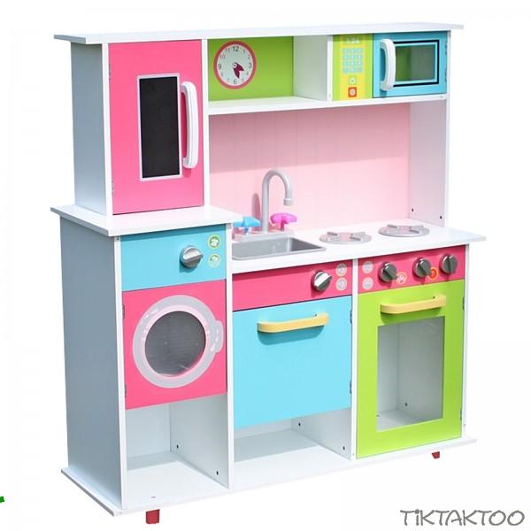 Charmant XXL Spielküche Kinderküche Aus Holz Küche Kinder Spielzeug Holzküche Weiss  /bunt