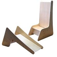 EVA high chair / slide wood