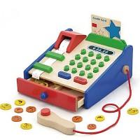 Children's wooden cash register Wooden cash register for grocery store Children's wooden cash register shop