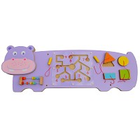 Hippo Nielpferd Wandspiel Wand-Spieltafel Motoriktrainer Motorikbrett Motorikschle