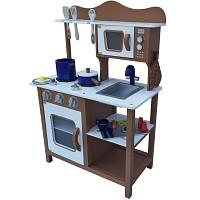 Braune Kinderküche Spielküche aus Holz Kinderspielküche Spielzeugküche Holzküche