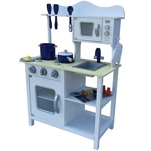White children's kitchen Wooden play kitchen Children's play kitchen Toy kitchen Wooden kitchen