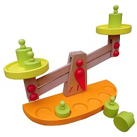 Holz - Waage Balancewaage Kaufladenzubehör