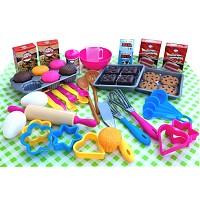 Backset 50 teilig Kuchen Plätzchen backen für Kinder Kinderküche Spielküche