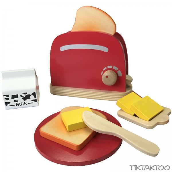 Toaster Holzspielzeug Kinderküche Spielküche Kaufladen Zubehör ...