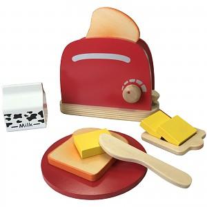 Toaster wooden toys children's kitchen play kitchen shop accessories 10-piece play set