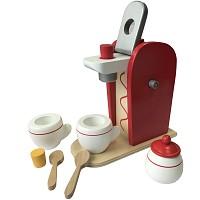 Coffee maker wooden toy 9-piece shop children's kitchen play kitchen accessories
