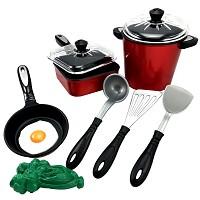 10-piece play kitchen accessories cooking set children's play kitchen pot pan doll kitchen