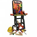 Workbench for children with extensive accessories