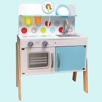 Wooden children's play kitchen white / mint Play kitchen Children's kitchen
