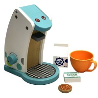 Wooden coffee maker coffee pad machine