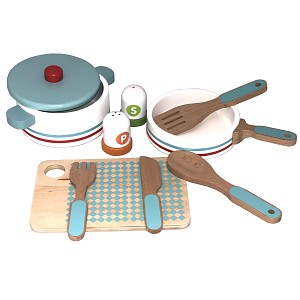 Kitchen set consisting of pot, pan etc 10 pieces