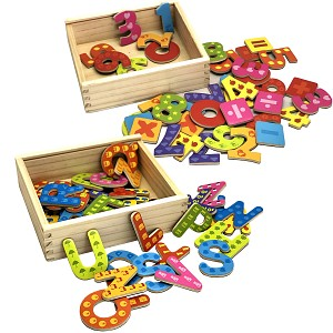 Magnet set - letters and numbers