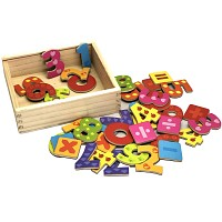 Magnet numbers 40 pieces. Learn to count elementary school