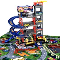 5 levels LUXURY parking garage with play mat and 6 cars