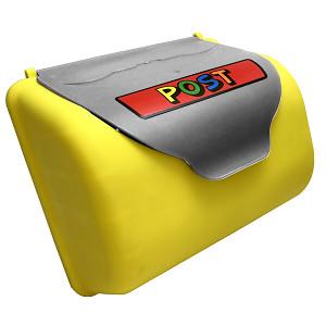 Yellow / gray mailbox