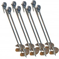 Ground Anchor, Set of 8