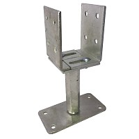 T-leg adjustable in height and width, galvanized