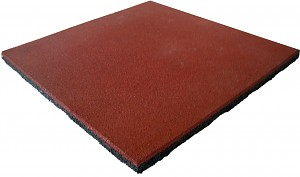 Fall protection mat for fall heights up to 0.90 meters made of rubber as an impact-absorbing covering.