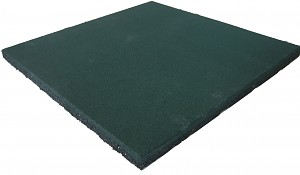 Fall protection mat rubber mat green 25 mm