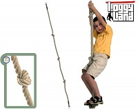 Climbing rope with three knots - knot rope