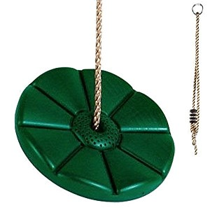 Green Tree Disc Swing with Rope for Outdoor Play