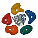 Climbing stones small assorted colors, set of 5