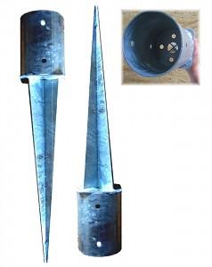 Set of 2 ground sockets Ø121mm
