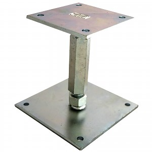 Height-adjustable post base, type A, extra stable