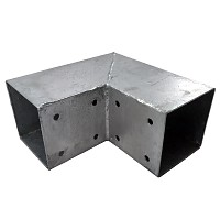 Wood connector square 2-way 90x90cm 2mm hot-dip galvanized