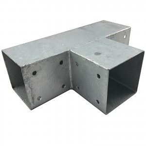 Timber connector, corner connector, post connector for 3 x square timber 90 x 90 mm