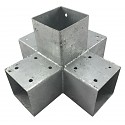 Wood connector square 5-way 90x90cm 2mm hot-dip galvanized