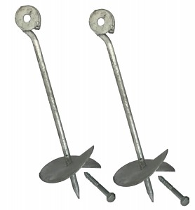 Set of 2 ground anchors - 30cm