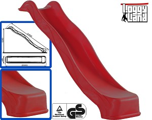 Wave Slide 2,40m with water connection red
