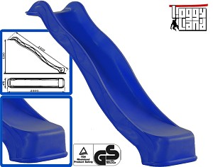 Wave Slide 2,40m with water connection blue
