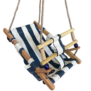 Baby swing seat - blue / white
