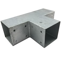 Wooden connector square 3-way 70x70cm