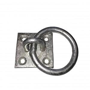 Ring auf Platte, stabiler Anbindering