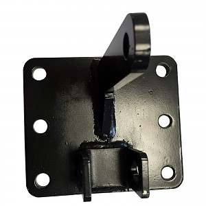 Adjustable door fitting for gate automation coated black