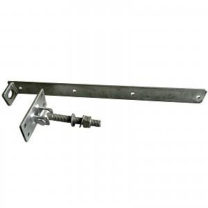 Gate fitting adjustable galvanized door hardware shutter hinge fittings 600x50x6mm