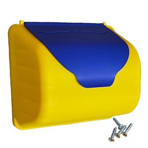 Yellow / blue mailbox