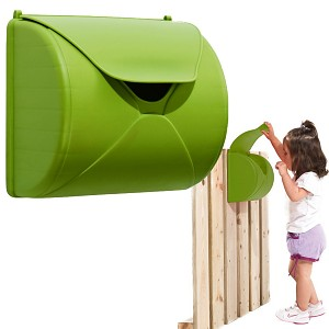 Children's letterbox for play tower or playhouse apple green  -  B-goods