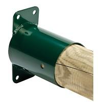 Rohrverbindungsstück Wandverbinder für Rundholz Ø 100 mm