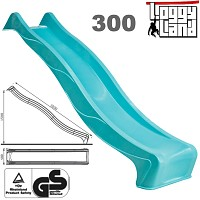 Wave Slide 3m with water connection turquoise