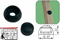 Bolt cover cover cap 8 / 10mm black plastic